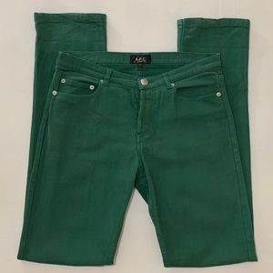 A.P.C. Rue Madame Paris Green Jeans